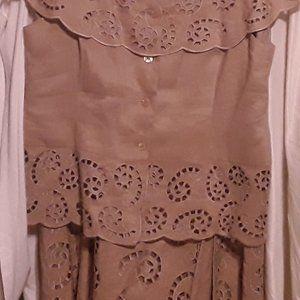 Linen Cut Out 2 Piece, Skirt & TOP 16